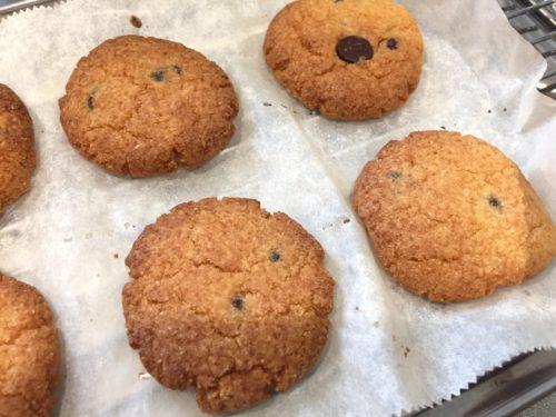 【レシピ】アーモンド&ココナッツフラワーGFチョコチップクッキー(ヴィーガン・グルテンフリー)